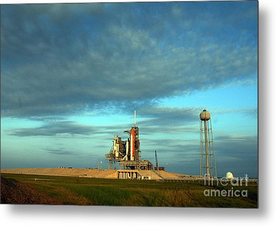Space Shuttle Endeavor On Launch Pad Metal Print by Nasa
