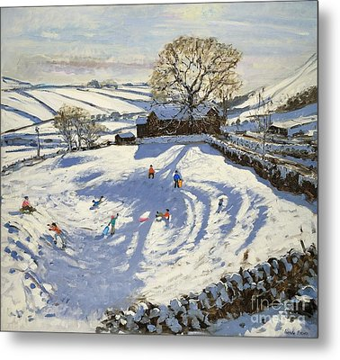 Sparrowpit Derbyshire Metal Print by Andrew Macara