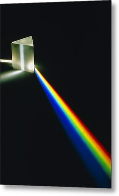 Spectral Light From Prism Metal Print by David Parker