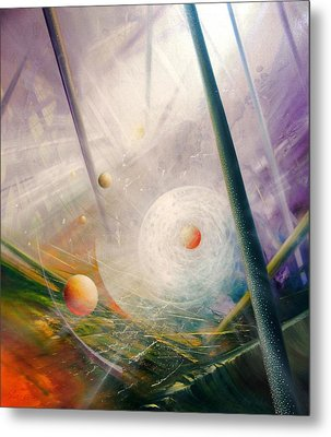 Sphere New Lights Metal Print by Drazen Pavlovic