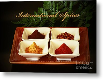 Spices From Around The World Metal Print by Inspired Nature Photography Fine Art Photography