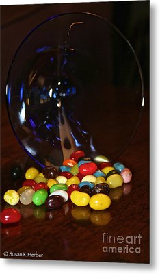 Spilled Beans Metal Print by Susan Herber