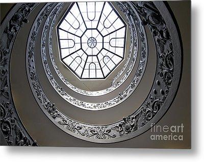 Spiral Staircase In The Vatican Museums Metal Print by Bernard Jaubert