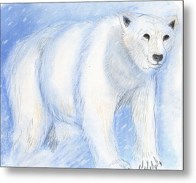 Spirit Bear Metal Print by Janelle Schneider