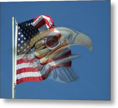 Spirit Of The Screaming Eagles Metal Print by Kevin Caudill