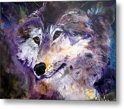 Spirit Wolf Metal Print by Sherry Shipley