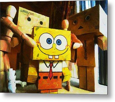 Spongebob Always Loves The Group Hugs Metal Print by Steve Taylor