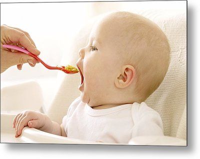 Spoon-feeding Metal Print by Ruth Jenkinson