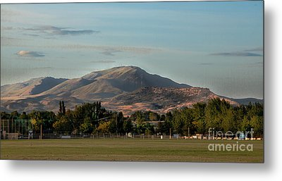 Sport Complex And The Butte Metal Print by Robert Bales