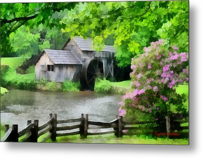 Spring At Mabry Mill Metal Print by Lynne Jenkins