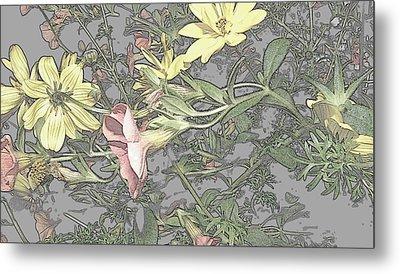 Spring Blossoms In Abstract Metal Print by Kim Galluzzo Wozniak