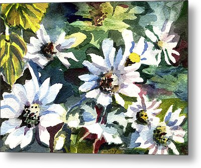 Spring Daisies Metal Print by Mindy Newman