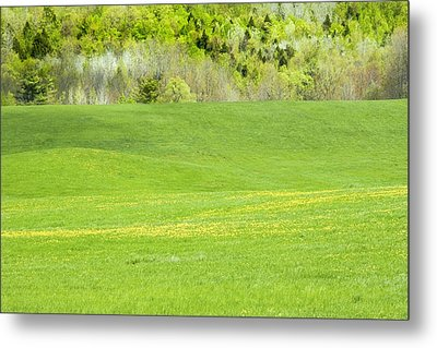 Spring Farm Landscape In Maine Metal Print by Keith Webber Jr