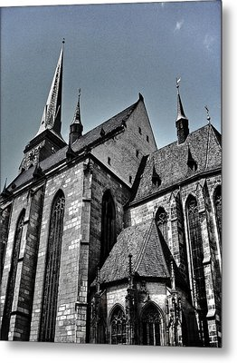 St. Bartholomew Cathedral - Pilsen Metal Print by Juergen Weiss