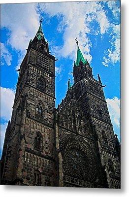 St. Lorenz Church - Nuremberg Metal Print by Juergen Weiss