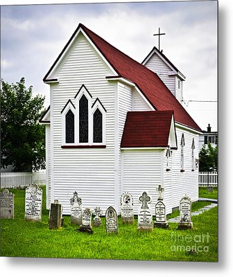 St. Luke's Church And Cemetery In Placentia Metal Print by Elena Elisseeva