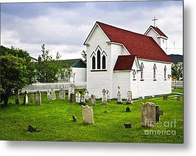 St. Luke's Church In Placentia Newfoundland Metal Print by Elena Elisseeva