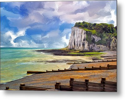 St. Margaret's Bay At Dover Metal Print by Dominic Piperata