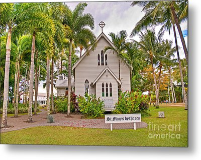 St Mary's By The Sea Metal Print by Bob and Nancy Kendrick