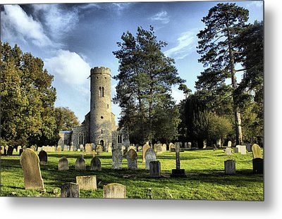 St Peters Church Forncett Norfolk England Metal Print by Darren Burroughs