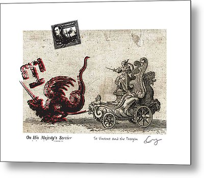 St Vincent And The Dragon Metal Print by Chrystle Wolff
