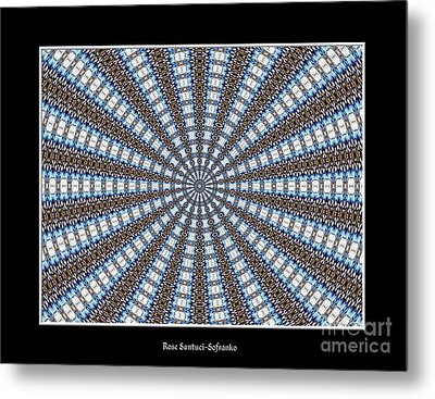 Stained Glass Kaleidoscope 32 Metal Print by Rose Santuci-Sofranko