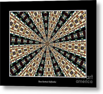 Stained Glass Kaleidoscope 39 Metal Print by Rose Santuci-Sofranko