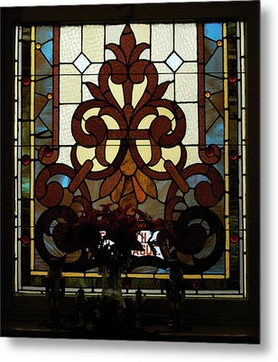 Stained Glass Lc 16 Metal Print by Thomas Woolworth