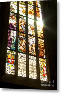 Stained Glass Window Metal Print by Michal Boubin