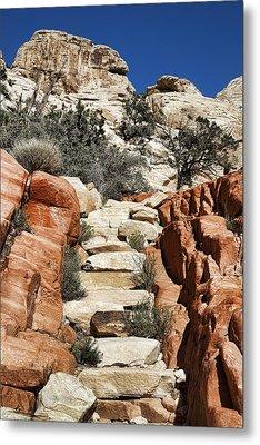 Staircase Stones Metal Print by Kelley King