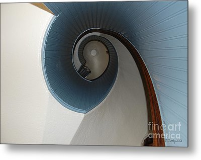 Stairway To The Past Metal Print by Susan Stevens Crosby