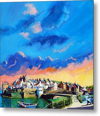 Staithes At Sundown Metal Print by Neil McBride