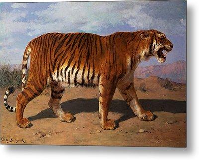 Stalking Tiger Metal Print by Rosa Bonheur