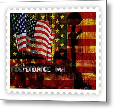 Stamp Your Freedom  Metal Print by Fania Simon