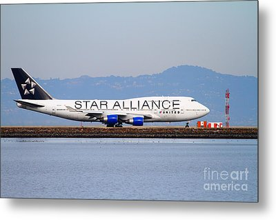 Star Alliance Airlines Jet Airplane At San Francisco International Airport Sfo . 7d12199 Metal Print by Wingsdomain Art and Photography