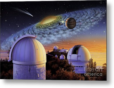 Starry Nights At Lick Metal Print by Lynette Cook