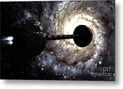 Starship Inspired By The Novels Metal Print by Rhys Taylor