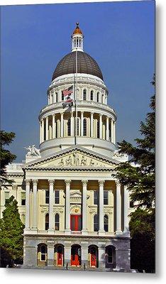 State Capitol Building Sacramento California Metal Print by Christine Till
