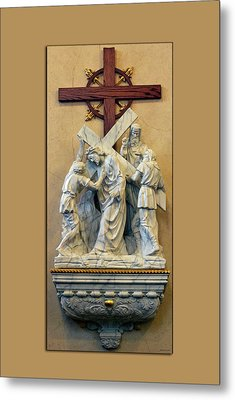 Station Of The Cross 05 Metal Print by Thomas Woolworth