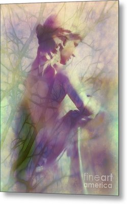 Statue In The Garden Metal Print by Judi Bagwell