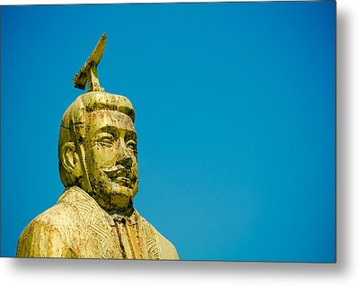 Statue Of Chinese Ancient Official Metal Print by Pan Hong