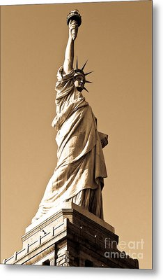 Statue Of Liberty Metal Print by Syed Aqueel