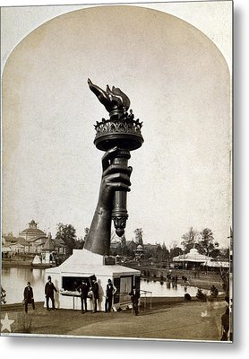 Statue Of Liberty. The Torch And Part Metal Print by Everett