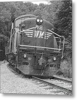Steam Engine Eighty Two Metal Print by Denise Jenks