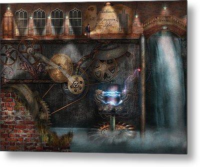 Steampunk - Industrial Society Metal Print by Mike Savad