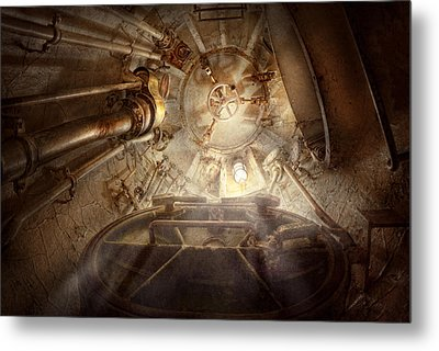 Steampunk - Naval - The Escape Hatch Metal Print by Mike Savad