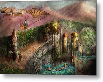 Steampunk - The Age Of Invention Metal Print by Mike Savad