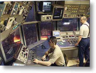 Steel Production Control Room Metal Print by Ria Novosti