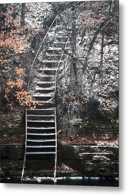 Steps  Metal Print by Jon Baldwin  Art