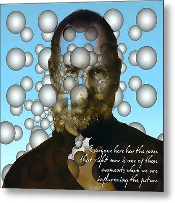 Steve Jobs - Abstract Metal Print by Radu Aldea